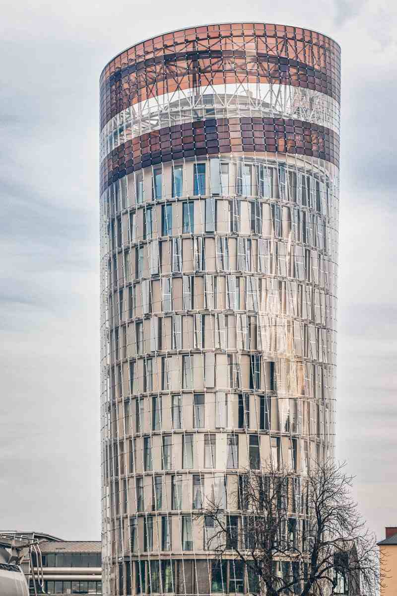 Graz attractions: The 60-meter tall Science Tower with a double-shell façade in Smart City