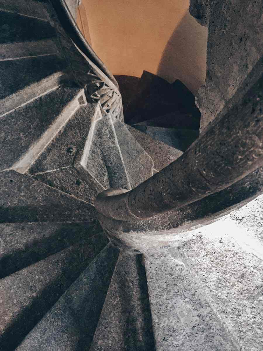 Graz Architecture: The famous double spiral staircase (Doppelwendeltreppe) inside the Graz Castle