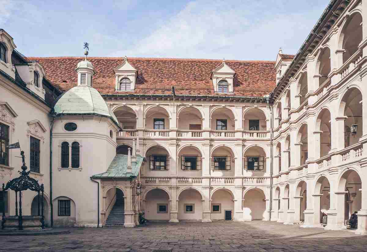 Graz Architecture: The stunning arcaded inner courtyard of the Graz Landhaus
