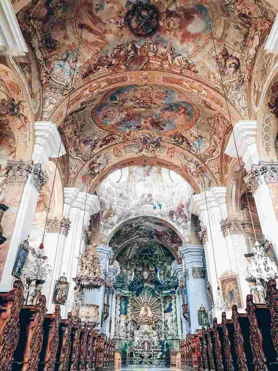 The sumptuous interior of Mariatrost Basilica in Graz
