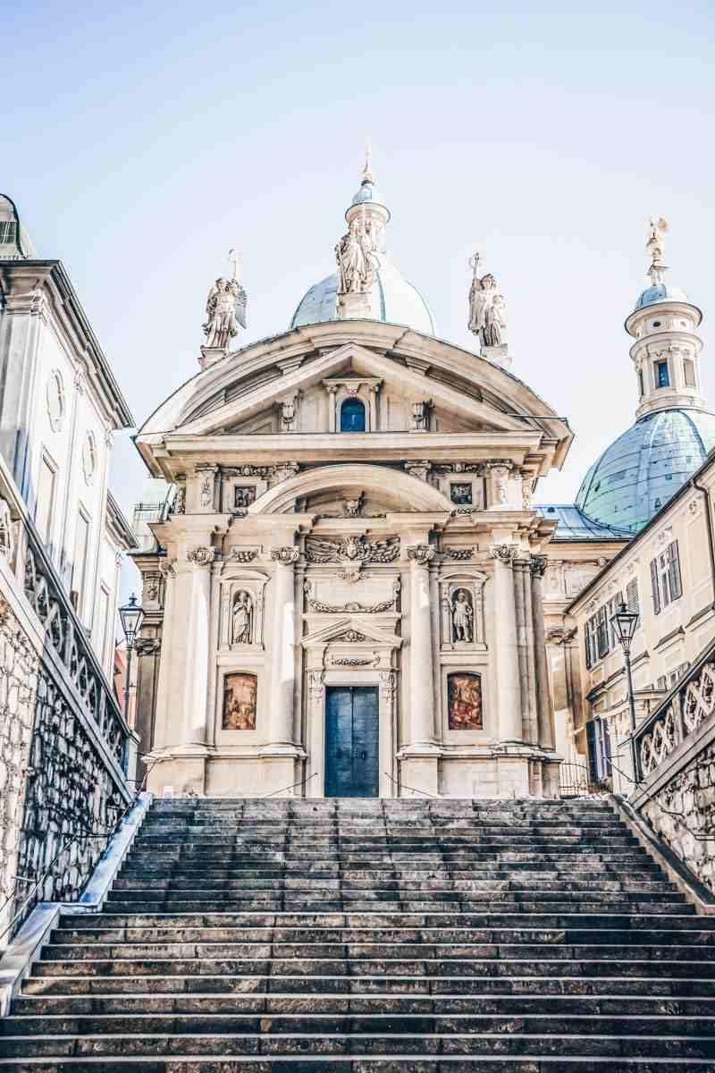 Graz arhitecture: The Mannerist-Baroque style Mausoleum of Ferdinand II