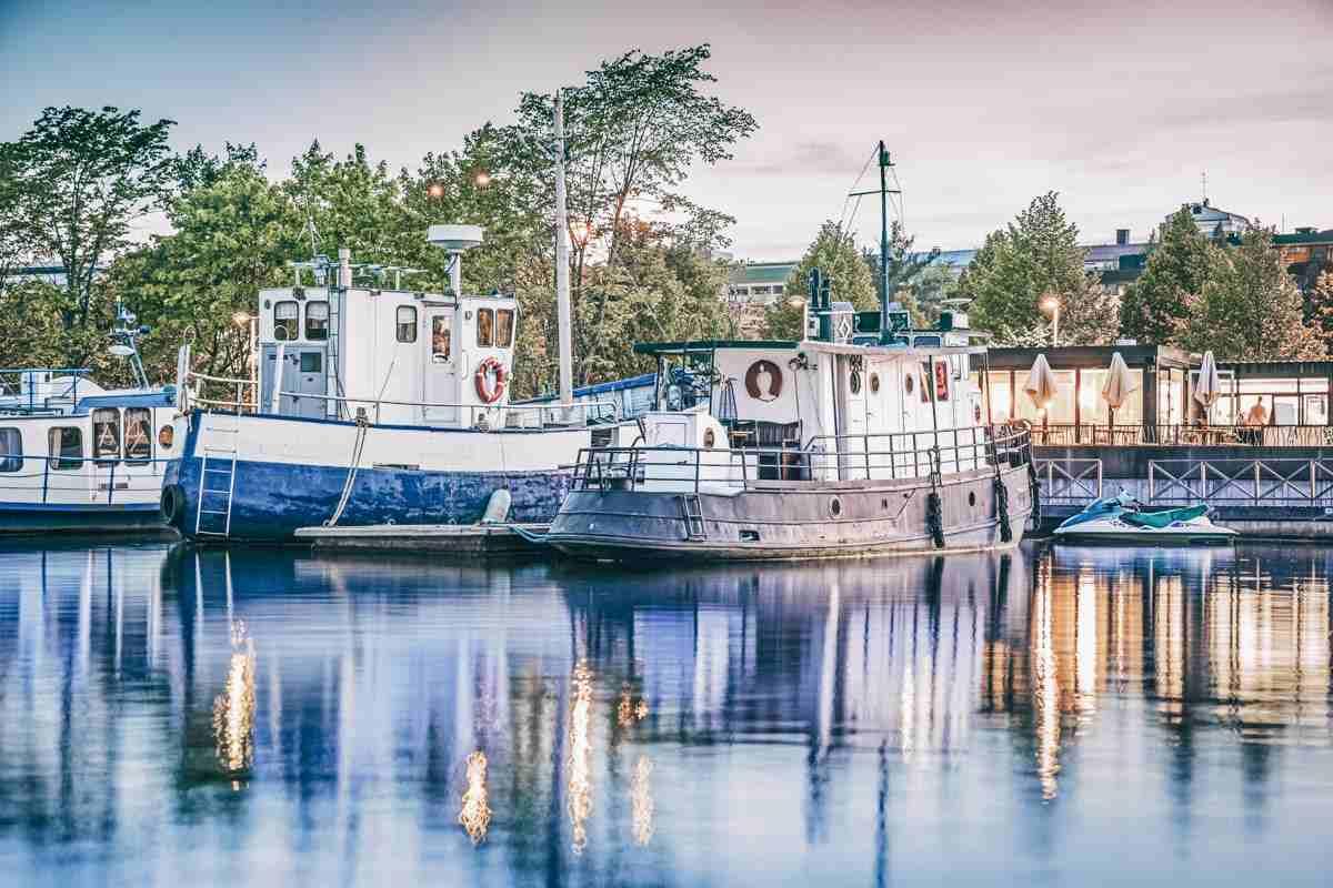 Jyväskylä: Houseboats in the Jyväskylä harbour