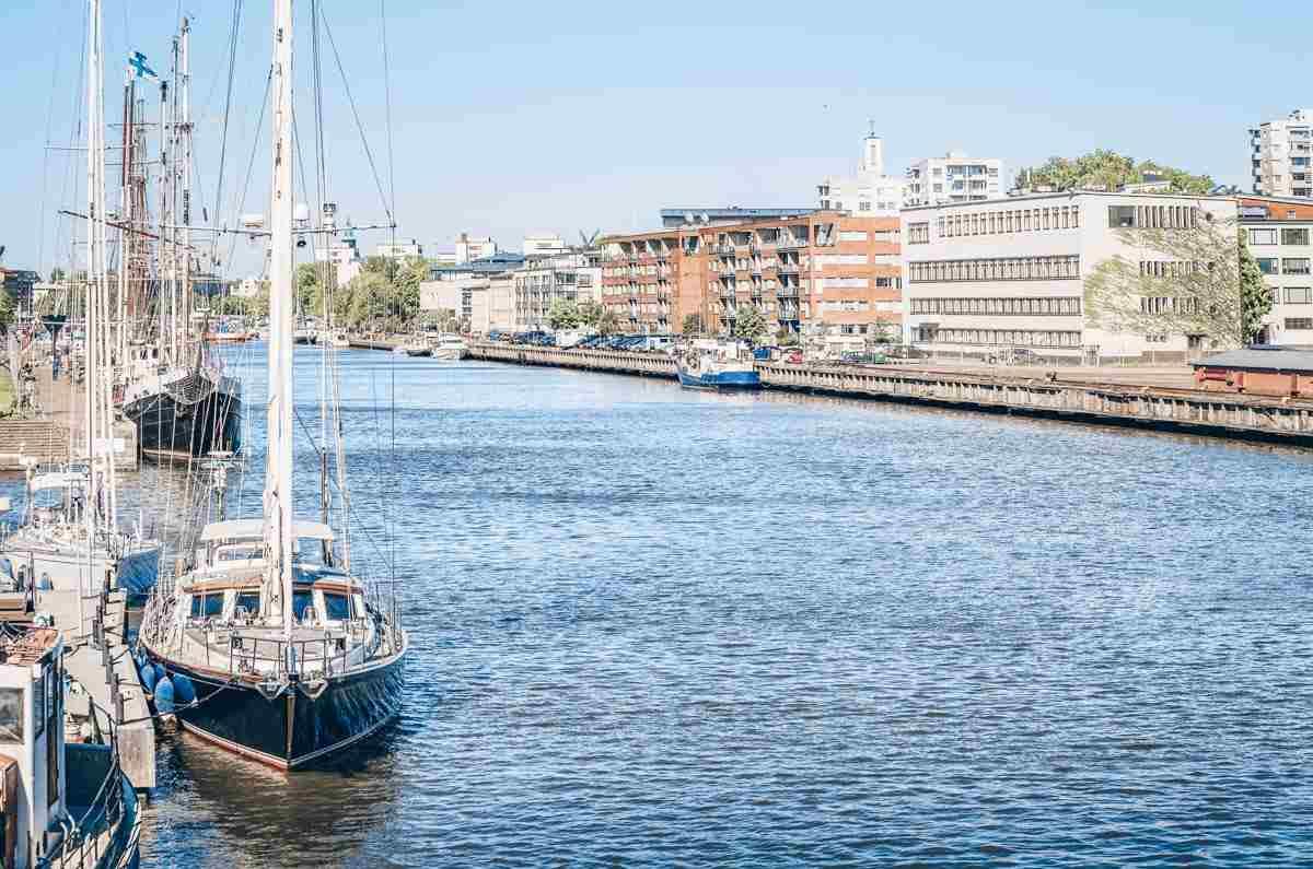 Turku: Ships docked in the Aura River