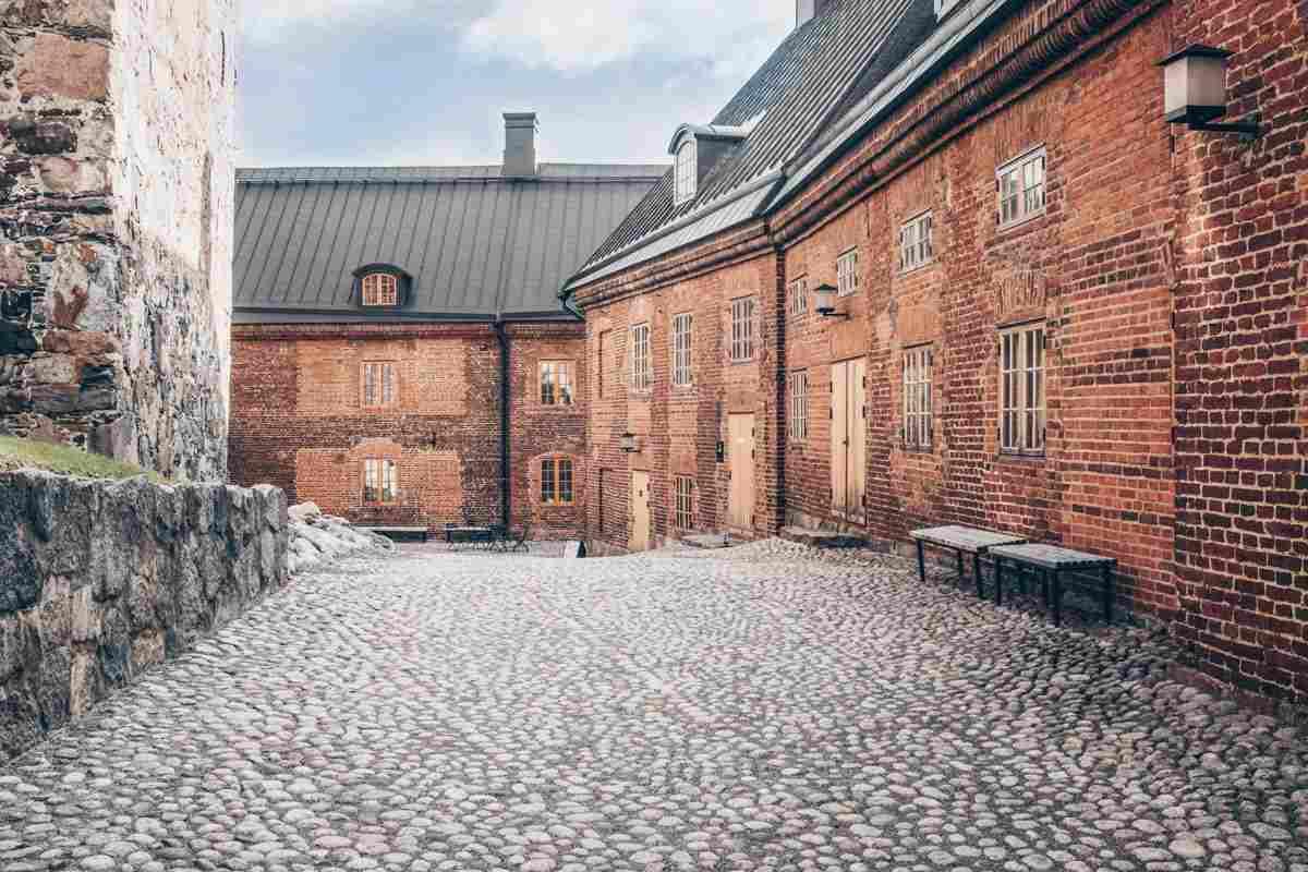 Hämeenlinna: The inner courtyard of the Häme Castle