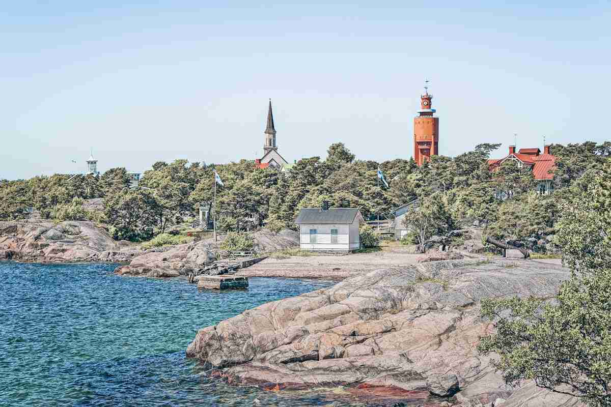 Aerial view of Hanko, Finland's southernmost city