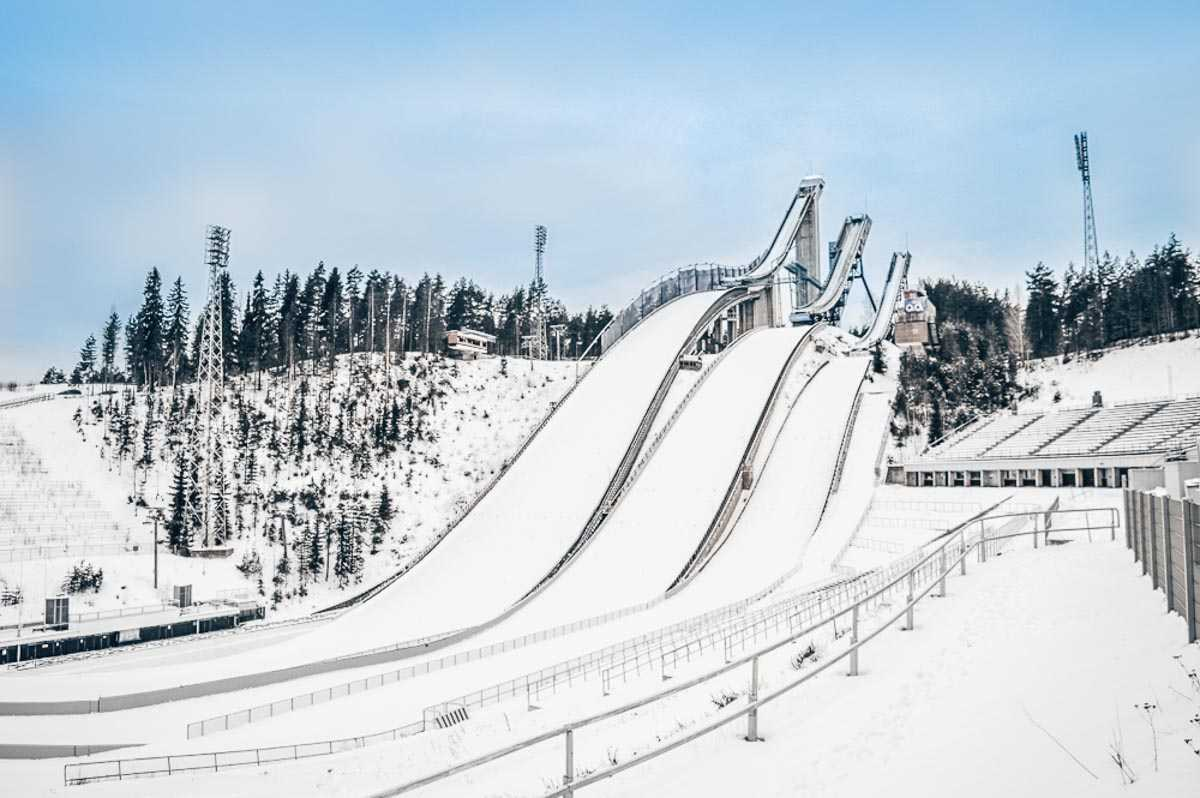 Lahti: The spectacular ski jumping arena in the Lathi Sports Center