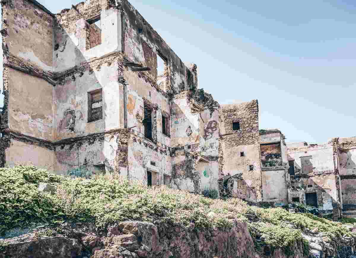 Essaouira. A ruined building in the mellah of the Essaouira medina