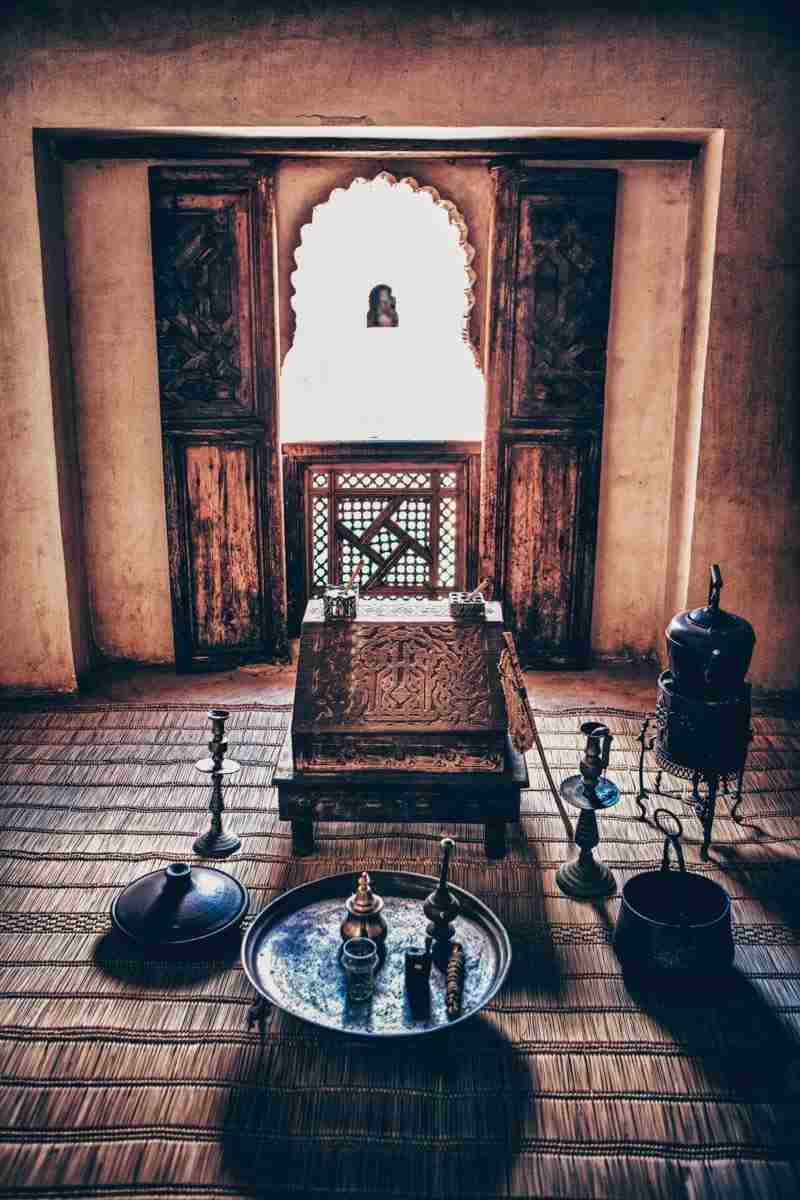 Marrakech: A furnished student's dormitory in Medersa Ben Youssef