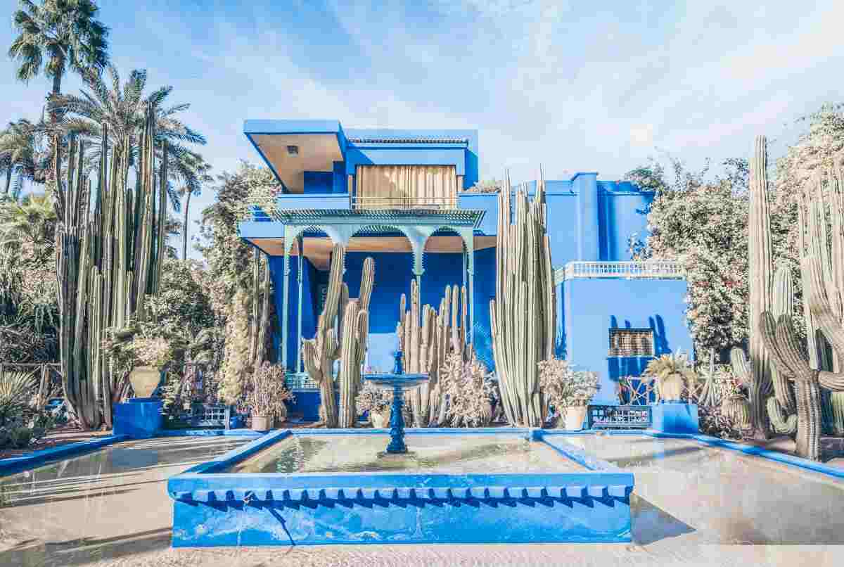 Marrakech Majorelle Garden: The brilliant cobalt-blue coloured villa among the trees
