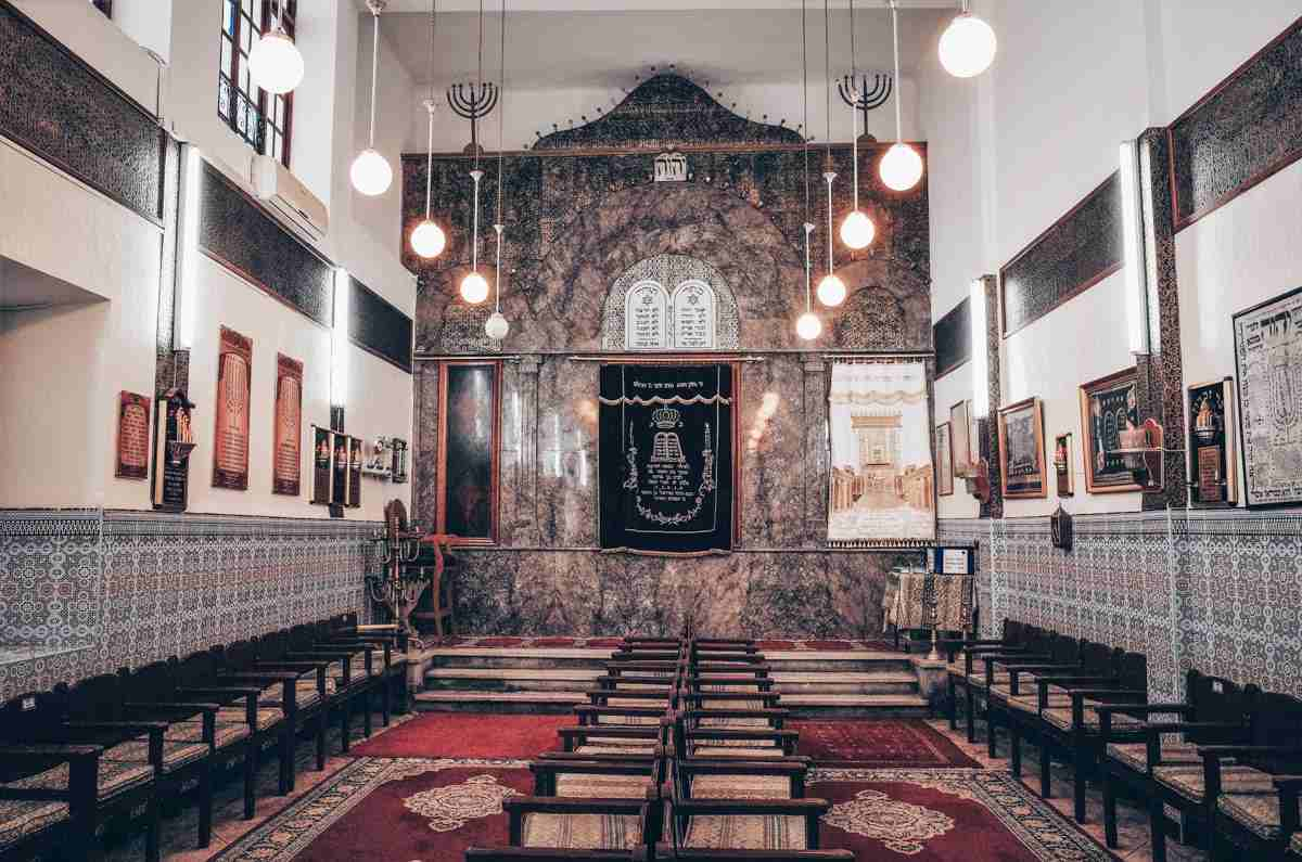 Marrakech Mellah: Interior of the Slat al-Azama Synagogue. PC: Jaroslav A. Polak/Shutterstock.com