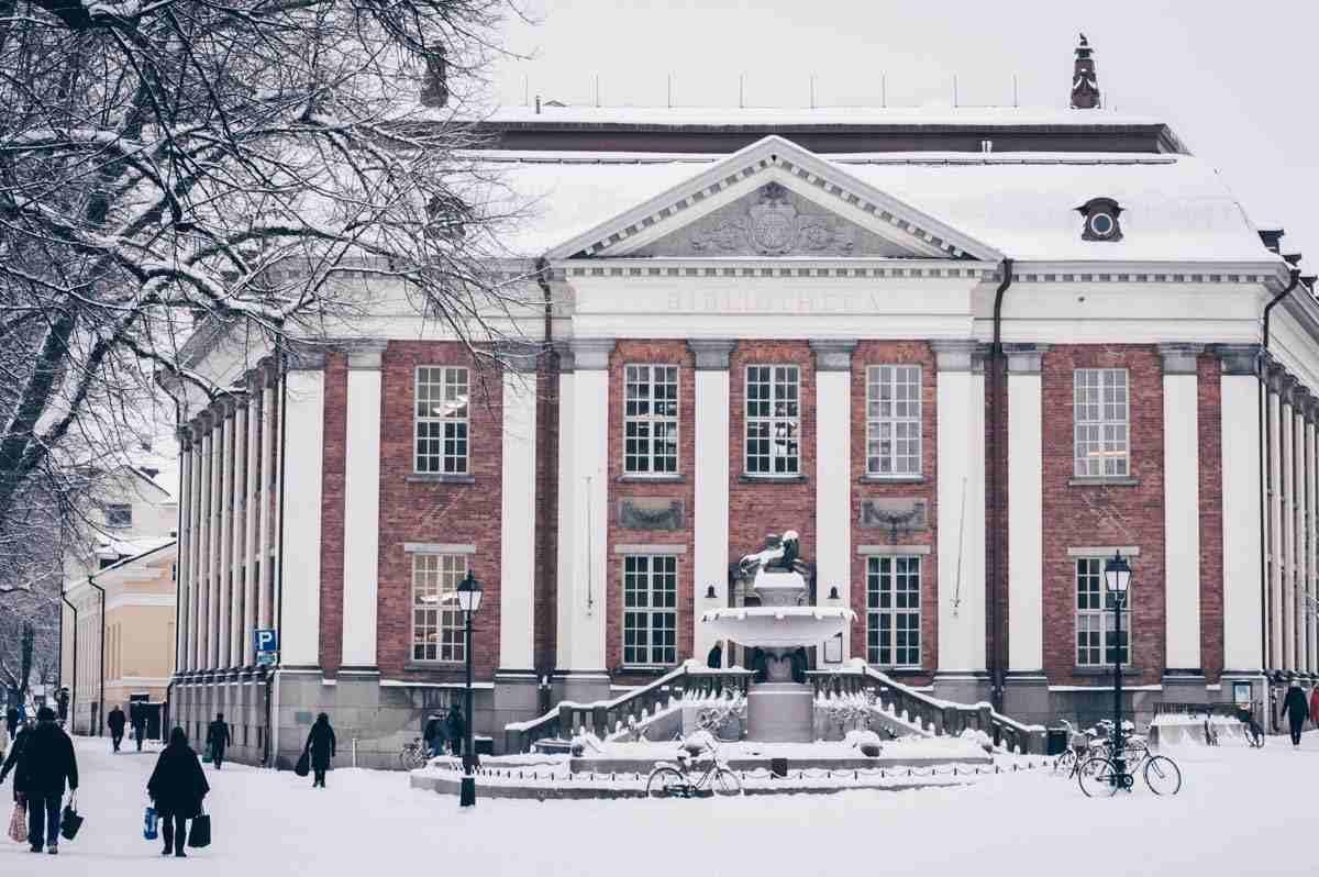 Turku: The Neo-Renaissance exterior of the old Turku Main Library